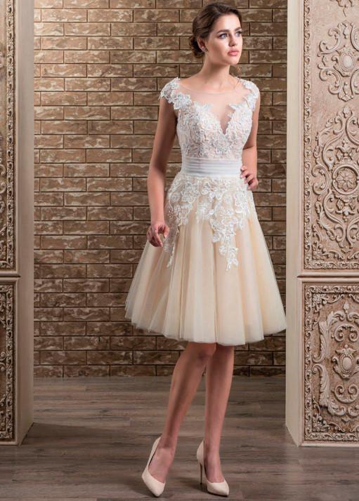 Свадебное платье «Короткое» BL-0332