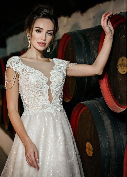 Cвадебное платье А-силуэта BL-19-831