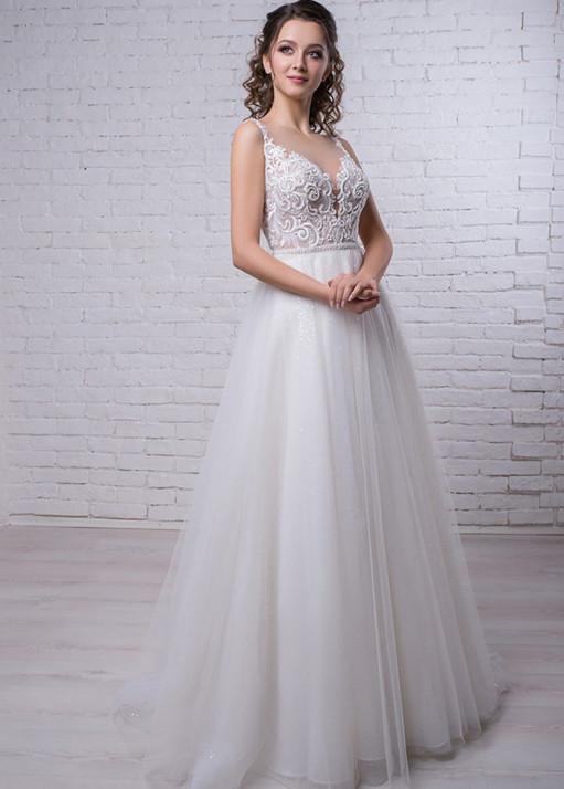 Свадебное платье силуэта «Годе» BL-19-480