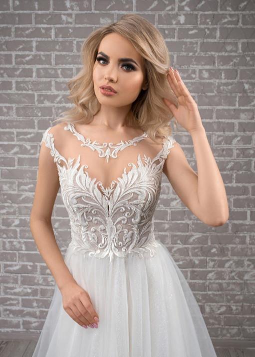 Свадебное платье «А-силуэта» BL-19-478