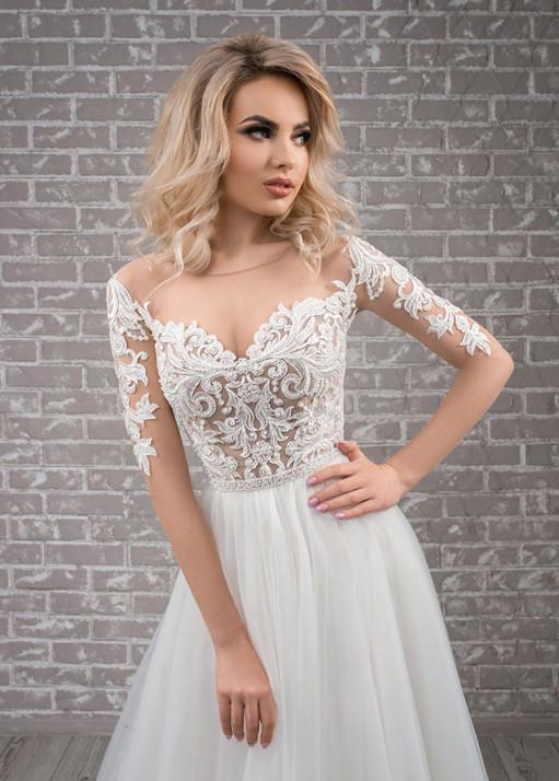 Свадебное платье «А-силуэта» BL-19-477