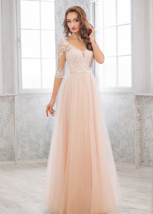 Свадебное платье«А-силуэт» BL-19-475