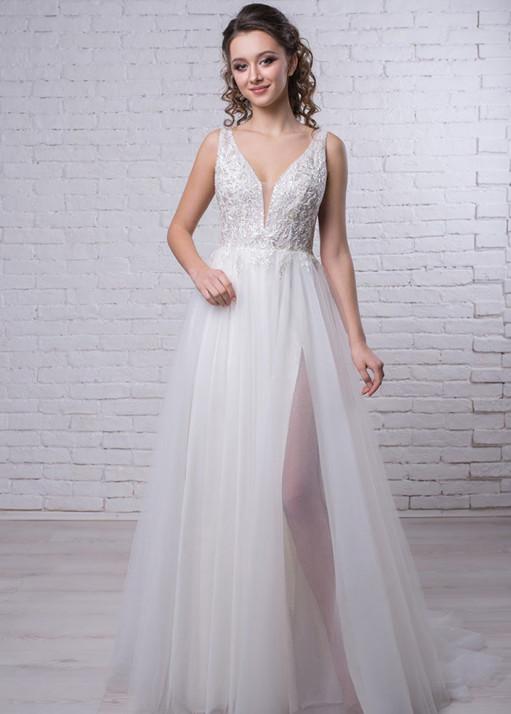 Свадебное платье «А-силуэта» BL-19-474